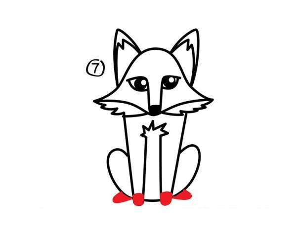 08. Как нарисовать лису в мультяшном стиле