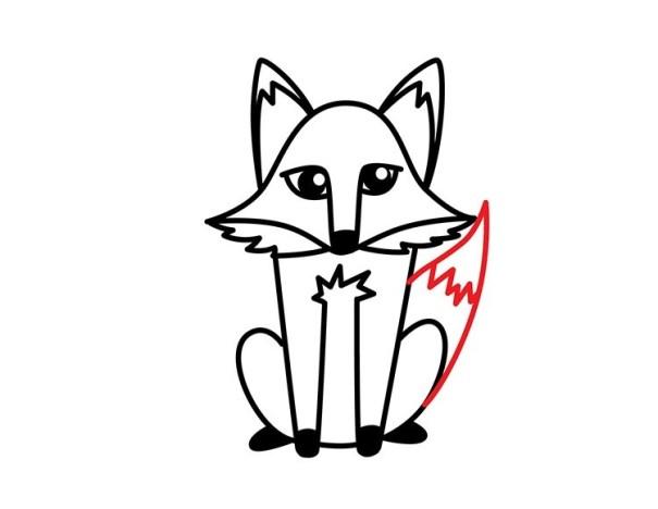 10. Как нарисовать лису в мультяшном стиле