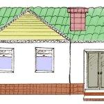 Рисуем дом карандашом поэтапно
