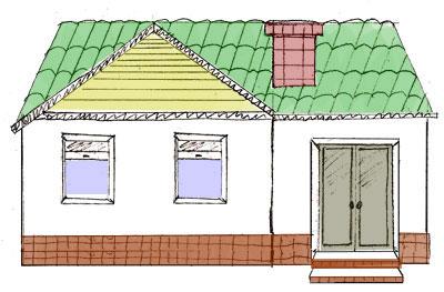Рисуем дом карандашом