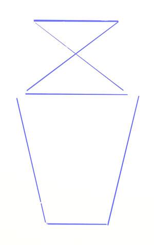 Рисуем ограничительные линии вазы