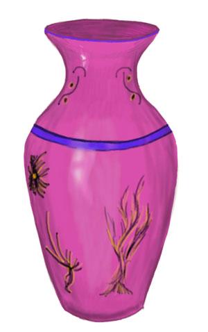Разукрасим вазу карандашами
