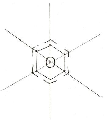 Придаем снежинке форму кристаллика