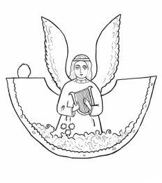 Раскрасски для детей - ангелочки и ангелв распечатать в хорошем качестве (2)