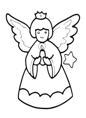 Раскрасски для детей - ангелочки и ангелв распечатать в хорошем качестве9 (2)
