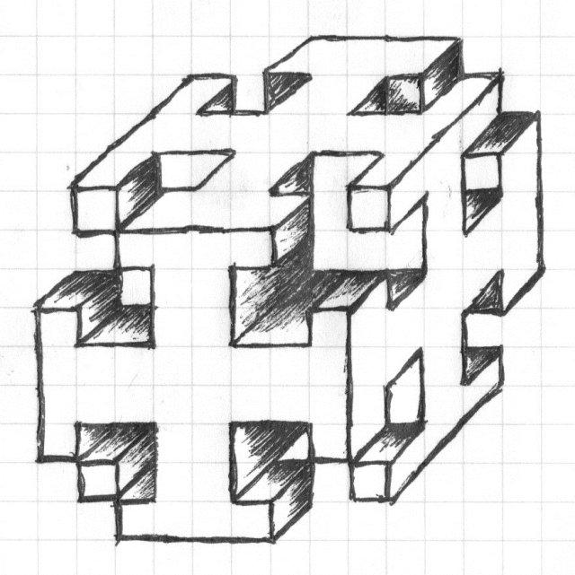Рисунки по клеточкам простым карандашом