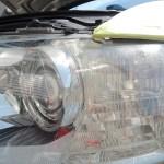 2018/5 アウディ・A8 ヘッドライトハードコート除去、プロテクションフィルム