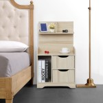 Details About 2 Drawers Wooden Bedside Table Cabinet Bedroom Furniture Storage Nightstand New