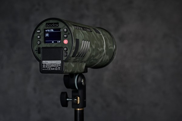 Protective Flash Guard Wrap Green Shadow Camouflage Skin for Godox AD300 PRO