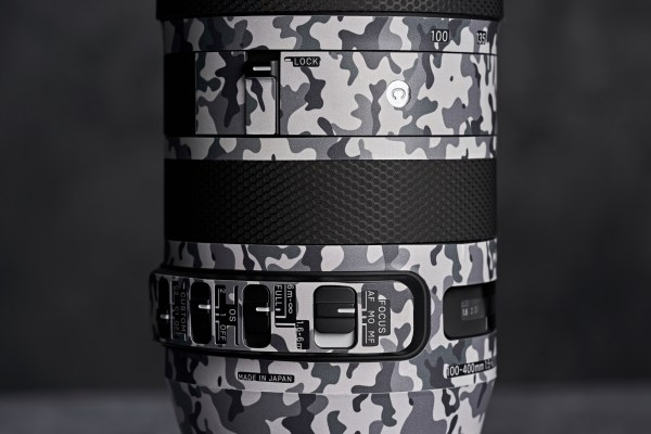 Sigma 100-400mm F/5-6.3 DG OS HSM for Canon EF - Protective Lens Guard Wrap White Camouflage Skin