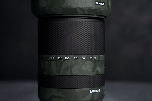 Tamron 18-200mm F/3.5-6.3 III Di VC Lens for Sony E - Protective Lens Guard Wrap Green Shadow Camouflage Skin
