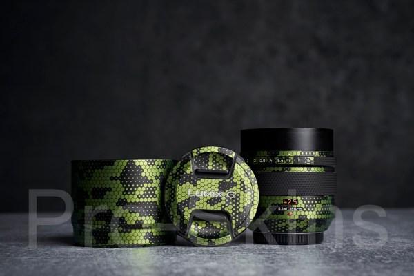 Pro-Skins Protective Lens Guard Wrap Digital Green Snake Skin for Panasonic Leica DG Nocticron 42.5mm f/1.2 ASPH. POWER O.I.S. Lens for M4/3
