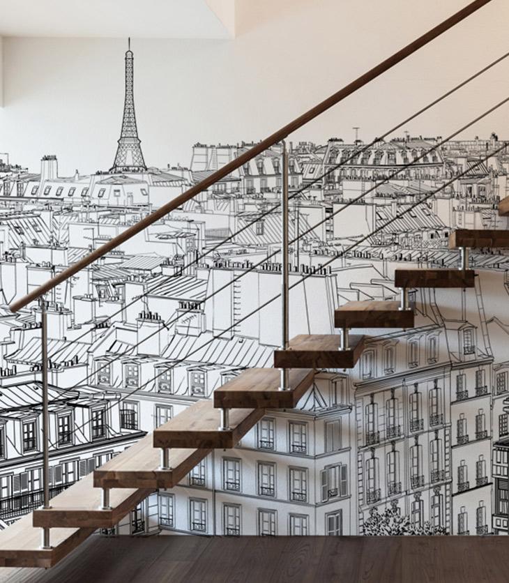 Papier peint panoramique Vue sur Paris