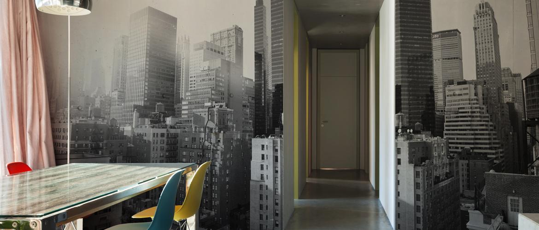 Wall-Deco Trompe l'oeil vu sur New-York