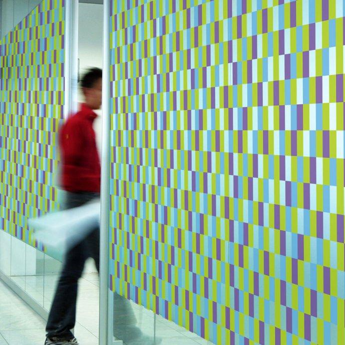 Films décoratifs pour vitres Vitrail vert