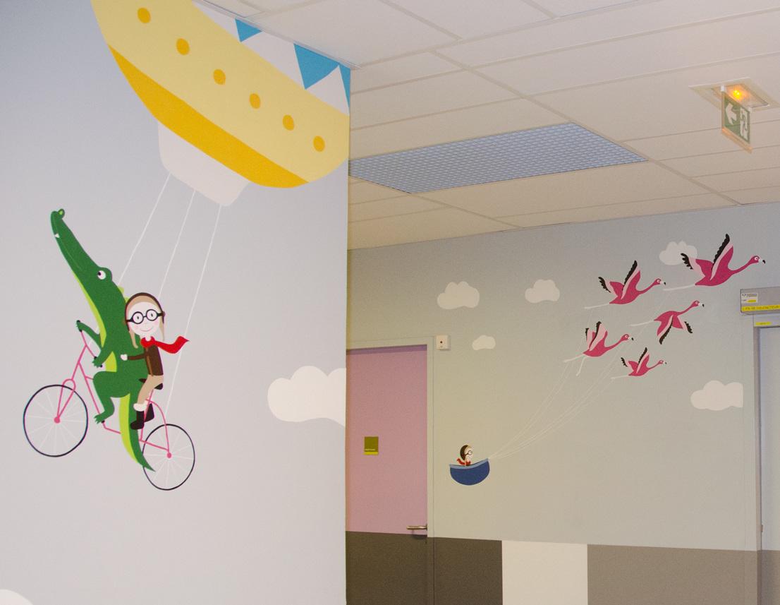 Illustration Juliette Gillard pour l'Hôpital Necker, financé par la Fondation CSF
