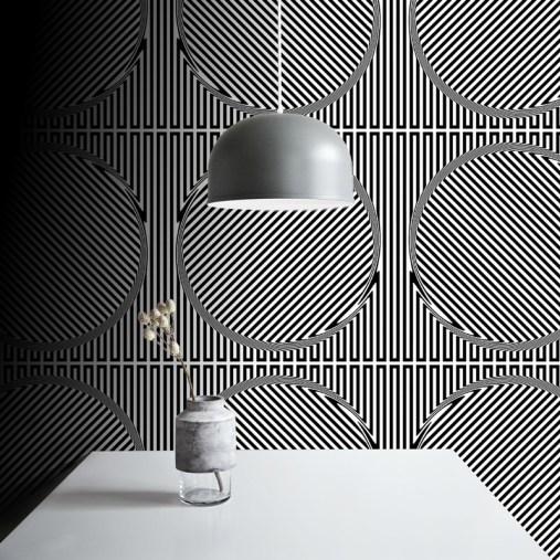 Papiers peints motifs design 60's - Création Nicola Da Dalto