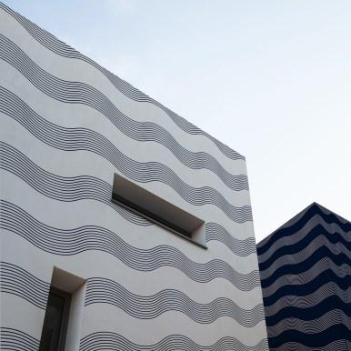 Papier peint Extérieur Blue waves