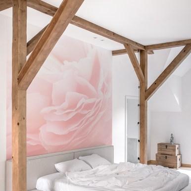 Papiers peints panoramiques Blurry pink
