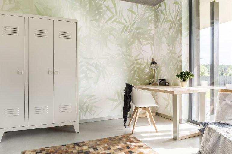 Papier peint panoramique Ombres de bambous