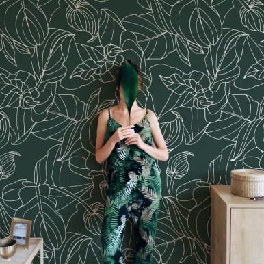 Papier peint panoramique Feuillages- Silowane