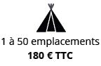 Grand pack Camping petits emplacements