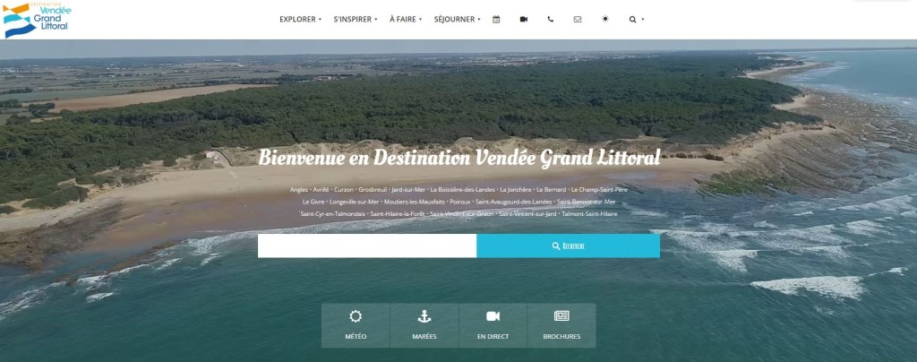 Site de l'Office de Tourisme Destination Vendée Grand Littoral 2019