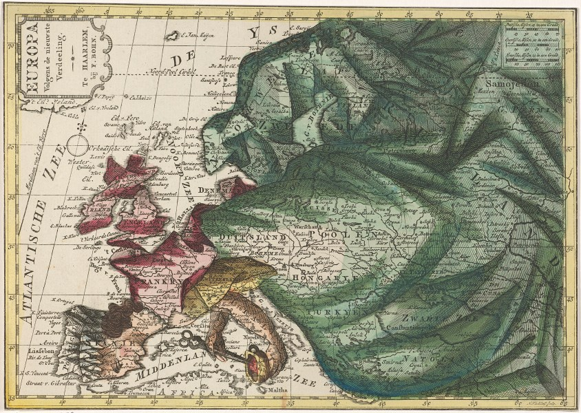Maps for makers  Satirical  political and unusual maps   Europeana Pro Map of Europe  colored as queen        1788   1792  Hendrik Kloekhoff   Rijksmuseum  Public Domain Marked