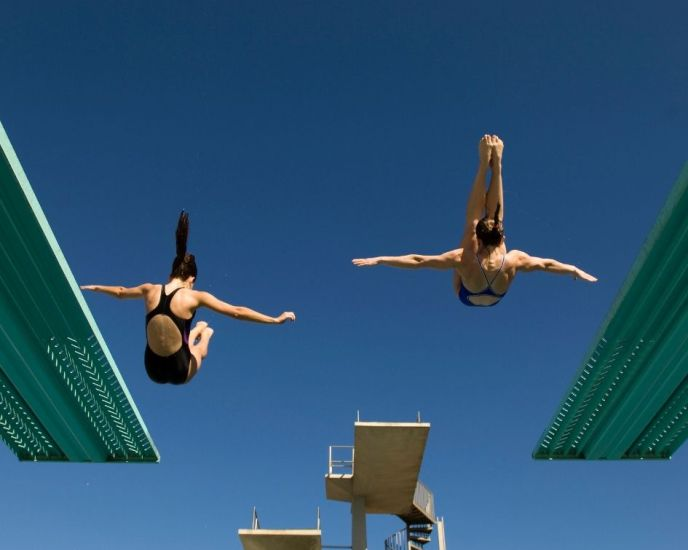 Overcoming mental blocks in competitive diving.
