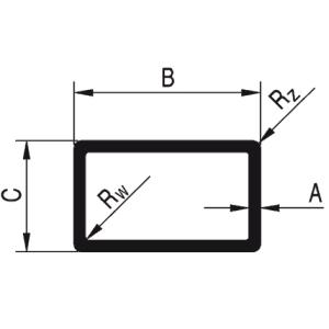 Hliníkové trubky obdélníkové (jekly)