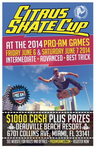 Miami Skateboarding Content ProAm Games 2014