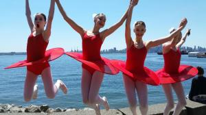 Ballerinas having fun - Canada Day