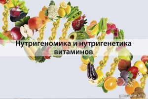 Нутригенетика и нутригеномика витаминов