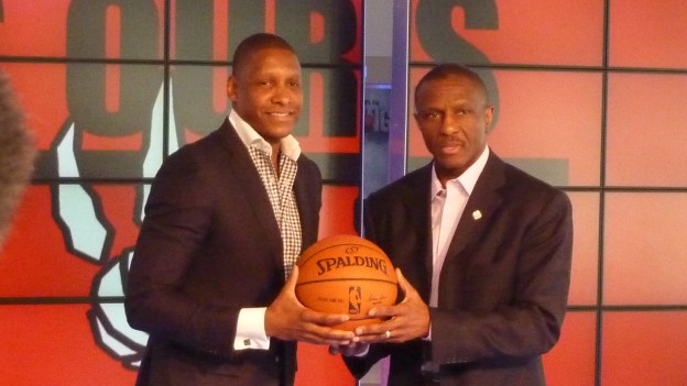 NBA Toronto Raptors Masai Ujiri and Dwane Casey