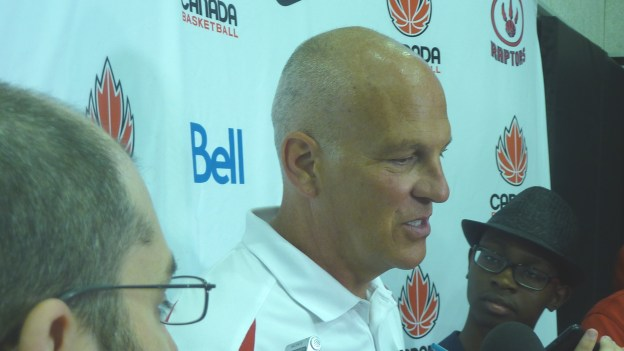 Jay Triano scrum close up 2