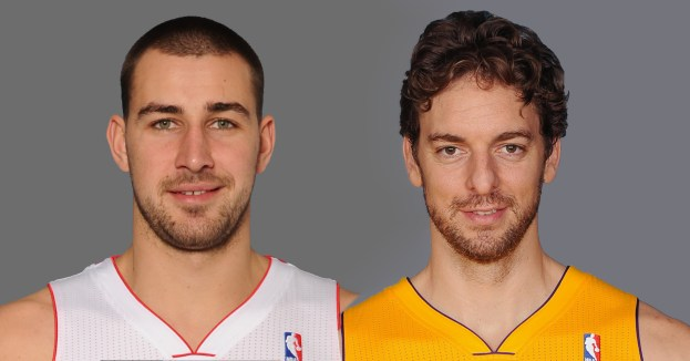 Valanciunas and Pau Gasol