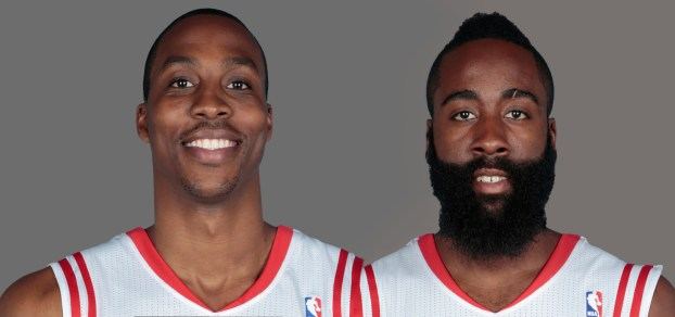 NBA Houston Rockets Dwight Howard and James Harden