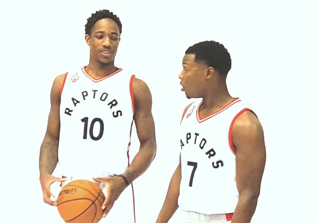 DeMarDeRozan and Kyle Lowry 2015 media day