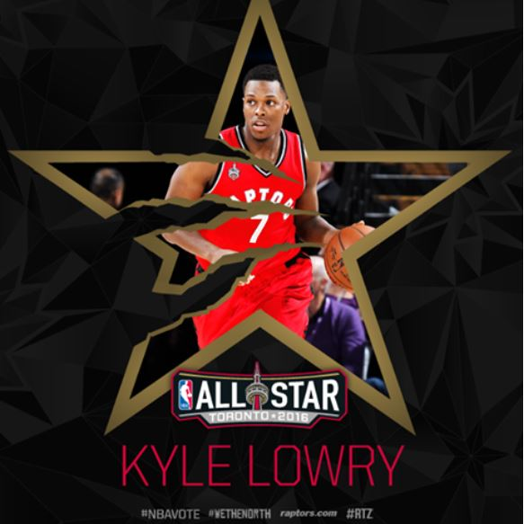 Toronto Raptors Kyle Lowry NBA All-Star