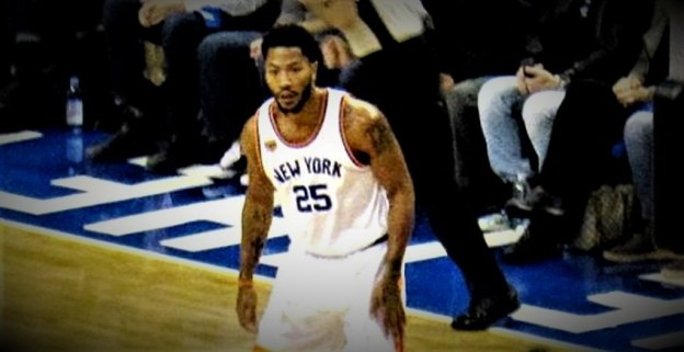 NBA New York Knicks Derrick Rose by Larry Millson