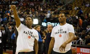 NBA Toronto Raptors Norman Powell and Kyle Lowry