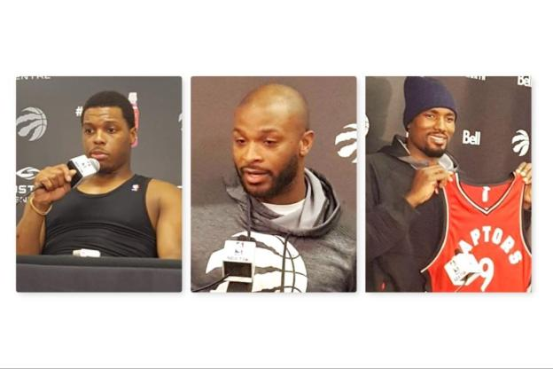 NBA Toronto Raptors Kyle Lowry PJ Tucker and Serge Ibaka