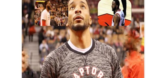 NBA Toronto Raptors Norman Powell and DeMarre Carroll and Patrick Patterson