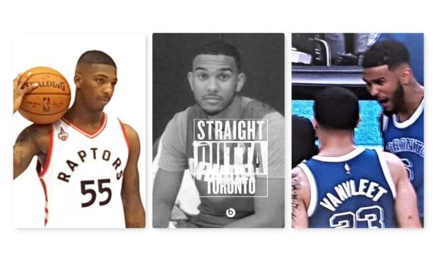 NBA Toronto Raptors Delon Wright, Cory Joseph, and Fred VanVleet