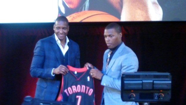 NBA Toronto Raptors Masai Ujiri and Kyle Lowry
