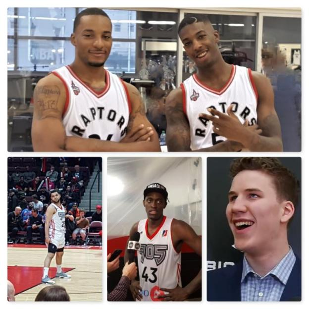 NBA Toronto Raptors Delon Wright and Norman Powell and Fred VanVleet and Pascal Siakam and Jakob Poeltl