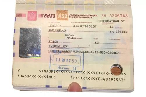 Russian Visa to travel the Trans-Mongolian Railway