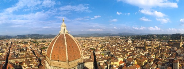 Top 5 moments of 2015 Panorama of Florence with the Duomo