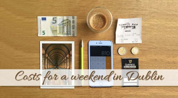 What are the costs for a weekend in Dublin?