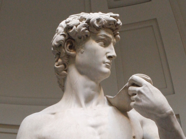 Looking at the David is like getting a little electric shock. You have to swallow to get that chunk down your throat. You forget to breath for a short moment. You look at the sculpture and feel yourself moving towards it. Eyes on the head, you're drawn in by the intense look of the young David. Don't believe me? Check it out at the Accademia museum in Florence.
